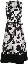 Natori tie-waist sleeveless A-line dress