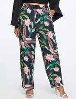 ELOQUII Plus Size Studio Wide Leg Pajama Pant