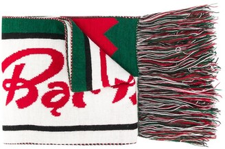 Msgm Kids Fringed Trim Scarf