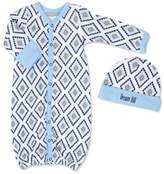 Wendy Bellissimo Wendy BellissimoTM 2-Piece Geometric Gown and Cap Set in Blue