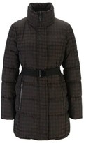 HUGO BOSS - Water Repellent Down Jacket With Signature Buckled Belt - Patterned