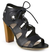 Journee Collection Women's Heeled Lace-Up Gladiator Sandals