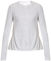 No.21 NO. 21 Ruffled-back cotton-blend sweater