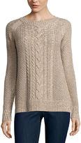 ST. JOHN'S BAY St. John's Bay Crew Neck Pullover Sweater