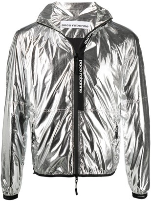Paco Rabanne Metallic Hooded Jacket