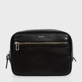 Paul Smith Men's Black 'City Embossed' Leather Wash Bag