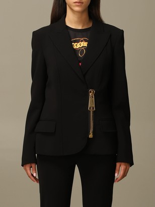 Moschino Blazer Cady Blazer With Big Zip