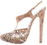 Christian Dior Snakeskin Cage Sandals