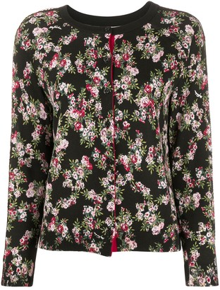 Twin-Set Rose Print Cardigan