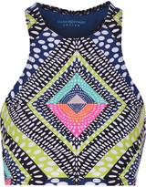 Mara Hoffman Cutout printed stretch-jersey top