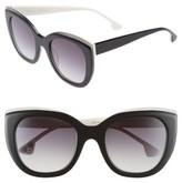 Alice + Olivia Women's Mercer 52Mm Cat Eye Sunglasses - Black/ White
