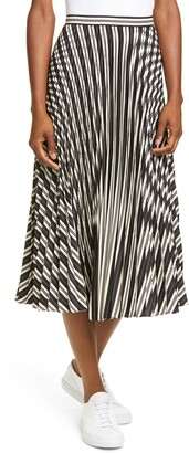 Club Monaco Annina Pleated Satin Skirt