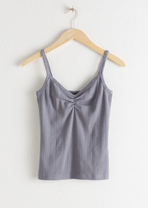 And other stories Stretch Cotton Tank Top
