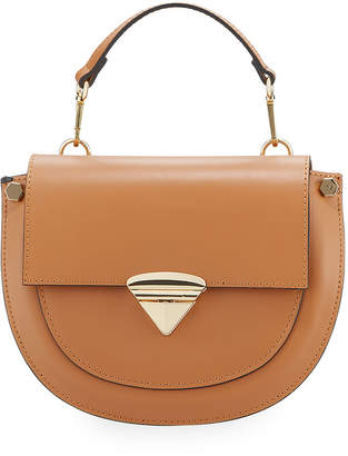 Neiman Marcus Leather Flap Top Crossbody Bag
