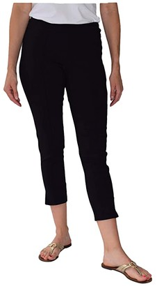 Krazy Larry Pull-On Seamed Skinny Ankle Pants (Black) Women's Casual Pants