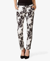 FOREVER 21 Floral Print Ankle Pants