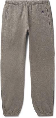 Needles Fleece-Back Cotton-Blend Lurex Track Pants