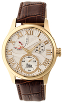 Reign Bhutan Automatic Silver-Tone Engraved Dial Stainless Steel Watch, 43mm