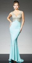 Tony Bowls Le Gala Royal Lace Bodice Evening Gown
