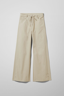 Weekday Iris Cotton Trousers - Beige