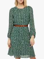 Monsoon Marty Print Dress, Green