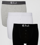 Pringle 3 Pack Button Fly Boxer Trunks