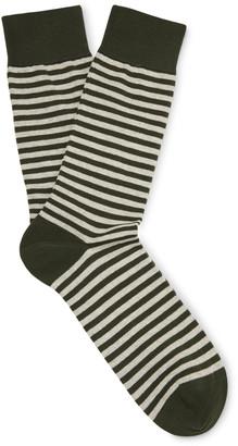 Oliver Spencer Loungewear Striped Stretch Cotton-Blend Socks