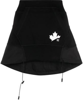 DSQUARED2 Drawstring Hem High-Waisted Skirt