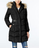 Rachel Roy Faux-Fur-Trim Puffer Coat, Only at Macy's