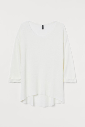 H&M H&M+ Loose-knit Sweater - White