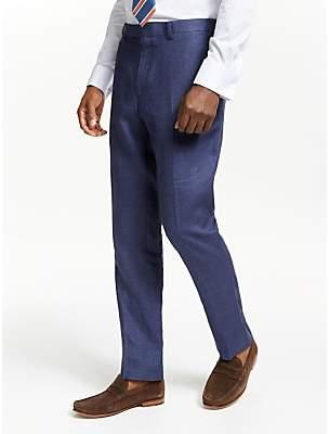 John Lewis & Partners Linen Slim Fit Suit Trousers, Indigo