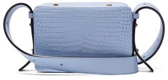 Lutz Morris Maya Crocodile-effect Leather Cross-body Bag - Light Blue