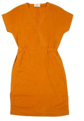 Folk Alber Dress In Marigold - S