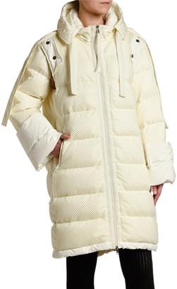 Moncler 2 1952 Narvalong Long Puffer Coat/Vest Combo
