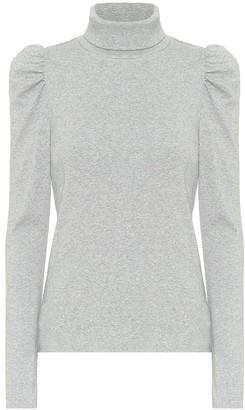 Veronica Beard Roll-neck stretch-cotton sweater