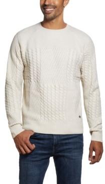 Weatherproof Vintage Men's Patchwork Crew Neck Sweater