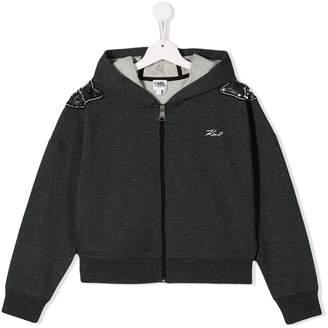 Karl Lagerfeld Paris TEEN embellished hooded jacket