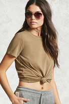 Forever 21 FOREVER 21+ Cotton Crew Neck Tee