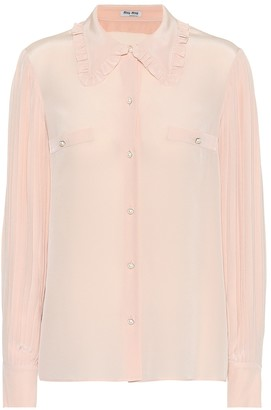 Miu Miu Embellished silk blouse