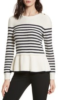 Kate Spade Women's Navy Stripe Peplum Sweater