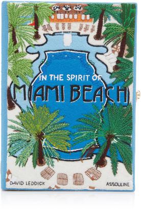 Olympia Le-Tan Miami Beach Embroidered Canvas Clutch