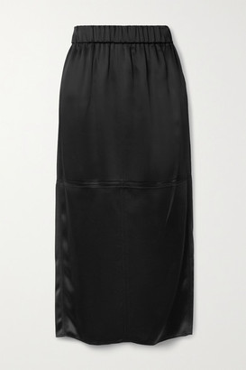 GAUCHERE Riry Satin Midi Skirt - Black