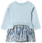 No Added Sugar Ice Blue Jersey Top and Woven Confetti Print Skirt Dress