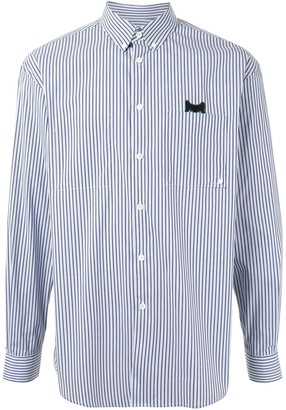 Zzero By Songzio Panther patch-pocket pinstripe shirt