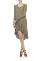 Paper Crane Olive Green Hoodie Dress