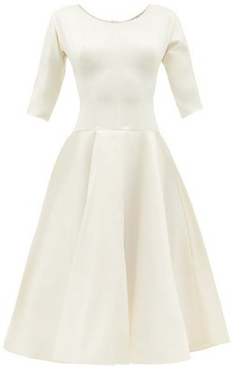 Vika Gazinskaya Scoop-neck Silk-blend Satin Dress - Ivory
