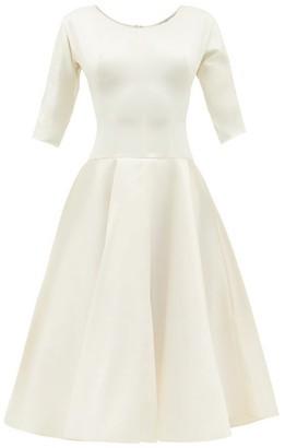 Vika Gazinskaya Scoop-neck Silk-blend Satin Dress - Womens - Ivory