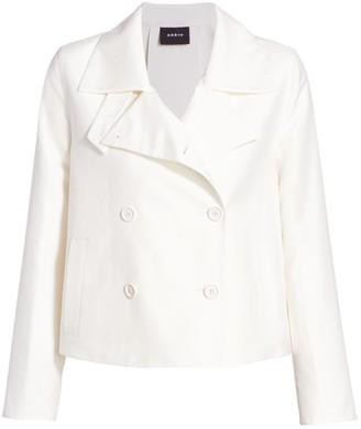 Akris Goslin Cotton & Silk Cropped Trench Coat