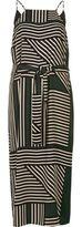 River Island Womens Green stripe print cami slip dress
