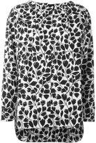 Marni drawstring collar 'Ames' print blouse